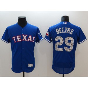 Men Texas Rangers 29 Beltre Blue Elite Spring Edition MLB Jerseys