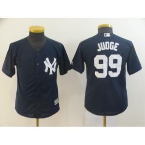 Youth New York Yankees 99 Judge Blue MLB Jersey
