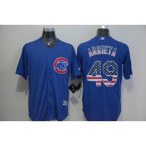 2016 MLB FLEXBASE Chicago Cubs 49 Arrieta blue jersey