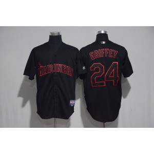 2017 MLB Seattle Mariners 24 Griffey Black Classic Jerseys